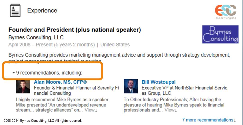 Mike Byrnes LinkedIn - Blog - April 2014
