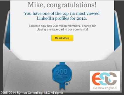 Mike Byrnes Top 1% LinkedIn 4.24.14