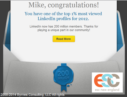 Mike Byrnes Top 1% LinkedIn 4.24.14